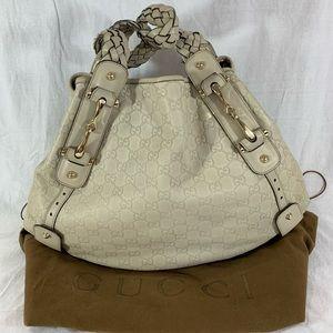 GUCCI Pelham Guccissima Mystic White/Beige Leather